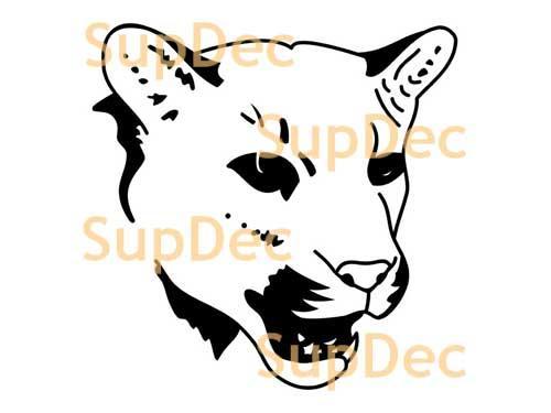 Tiger Wildkatze Vinyl Wandfenster Badezimmer Aufkleber Aufkleber # 3