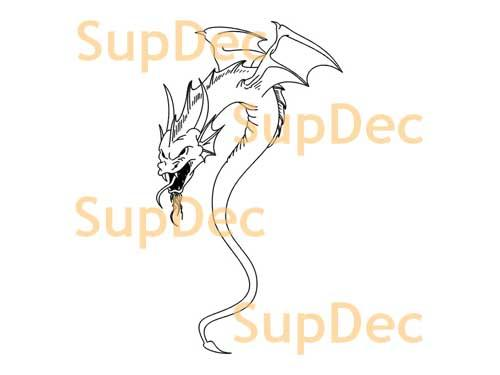 Dragon Vinyl Art Wall  Window Bathroom Sticker Decal #2