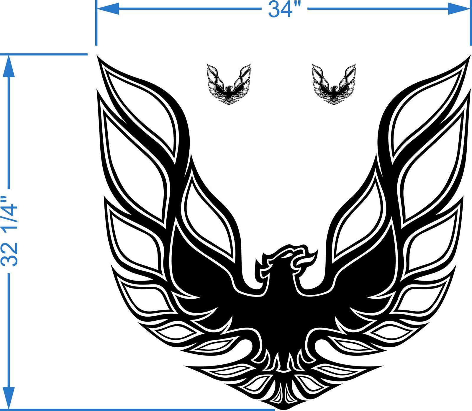 Kit Firebird Trans Am Hood Bird Decal Graphic Pontiac