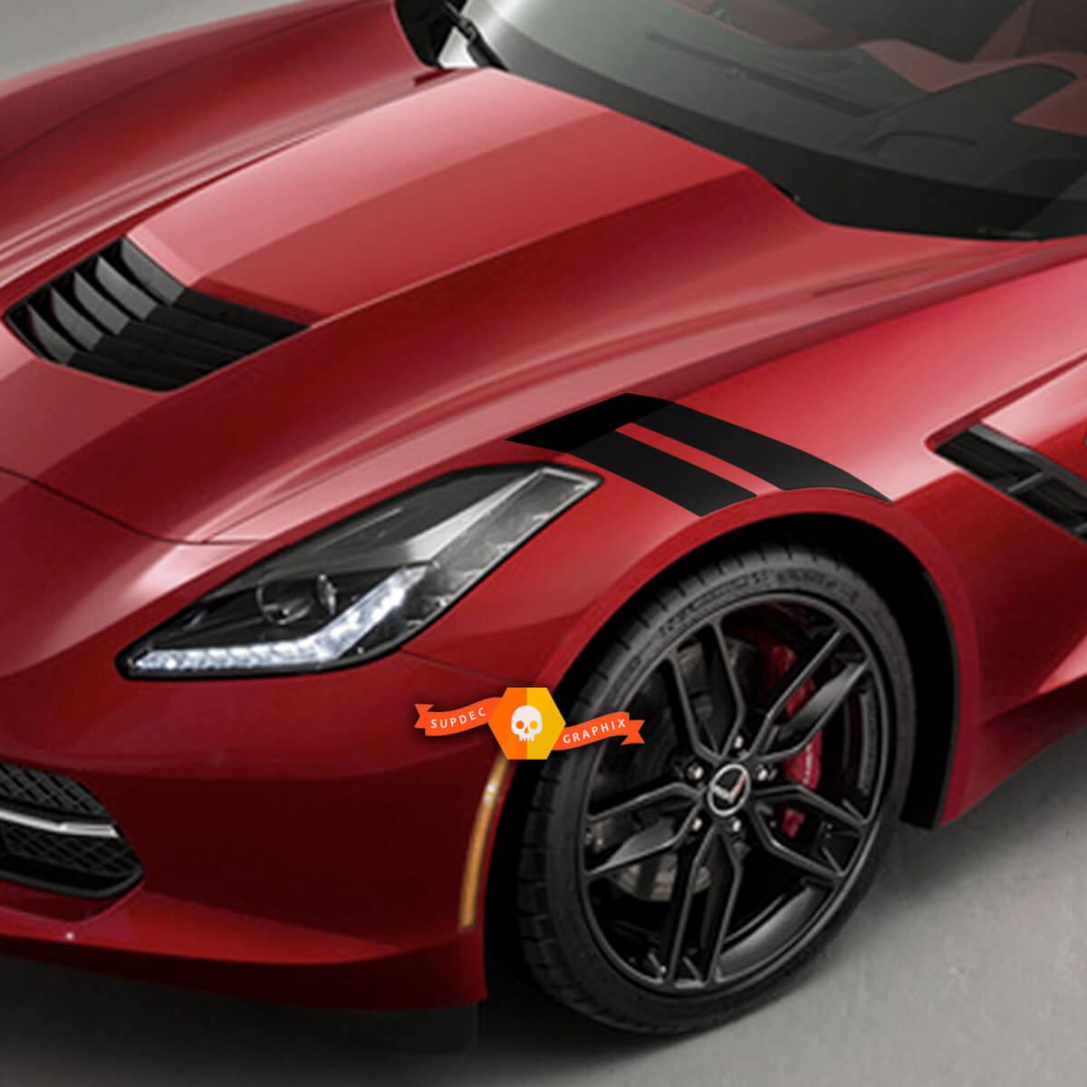 Chevrolet Corvette C7 Sider Seitenstreifen Sport Racing Double Decals