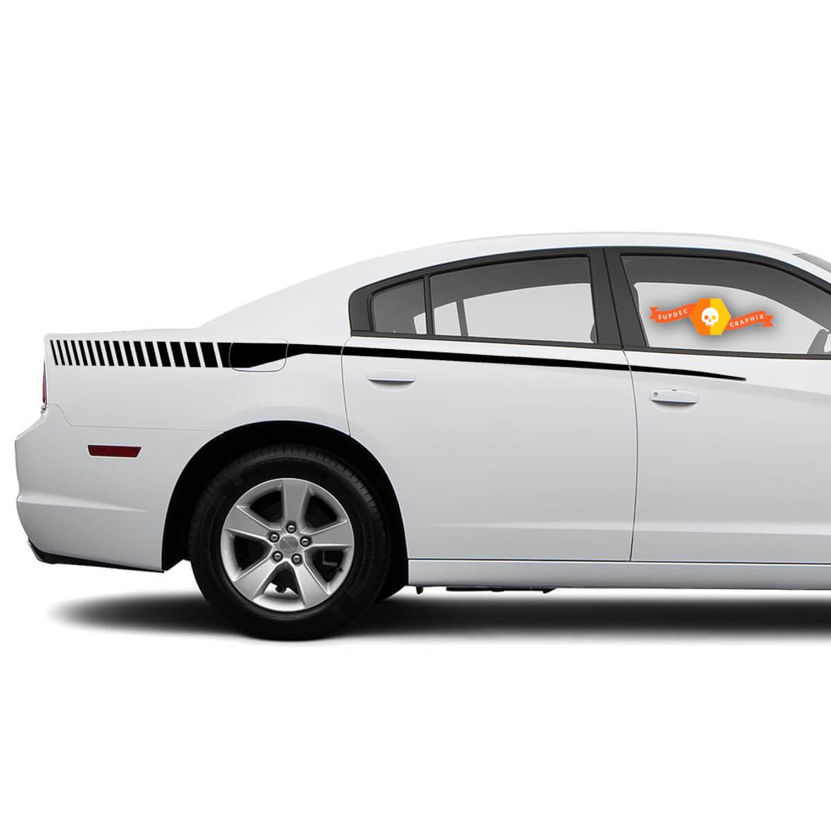 Für 2015-2018 Dodge Charger Rear Quarter Strobe Bodyline Seitenstreifen Aufkleber