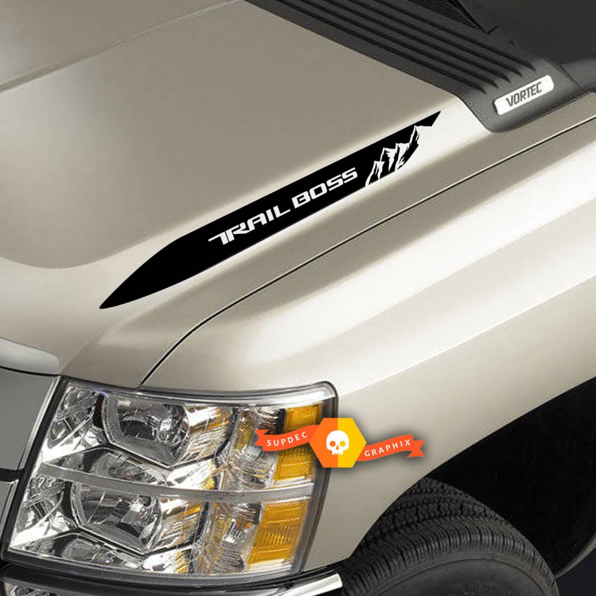 2019 2020 Chevy Silverado 1500 BERG Trail Boss Hood Spear Aufkleber Aufkleber Set von