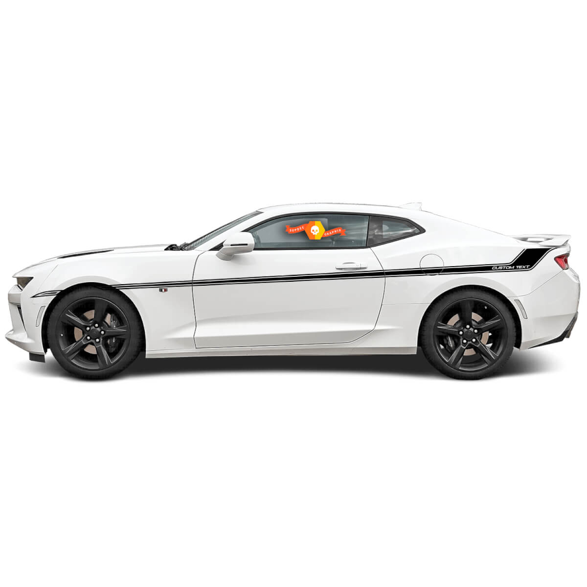 Chevy Camaro 2016 2017 ZL1 SS RS Seite Classic Style Stripe Graphics Style