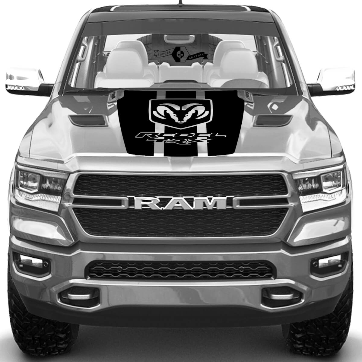 Dodge Ram Rebel TRX 2021+ Hood Truck Vinyl Aufkleber Grafik