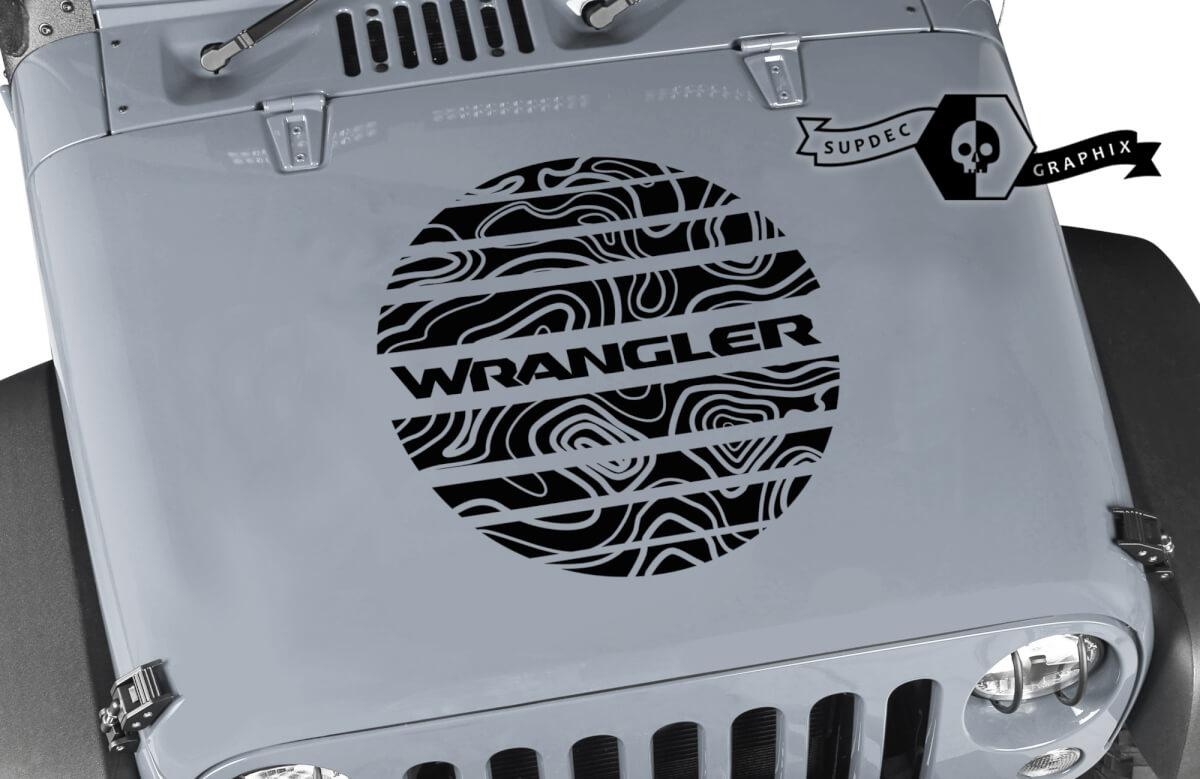 Jeep Wrangler Graphics Kit Vinyl Wrap Decal Blackout Contour Kartenkapuzekapu