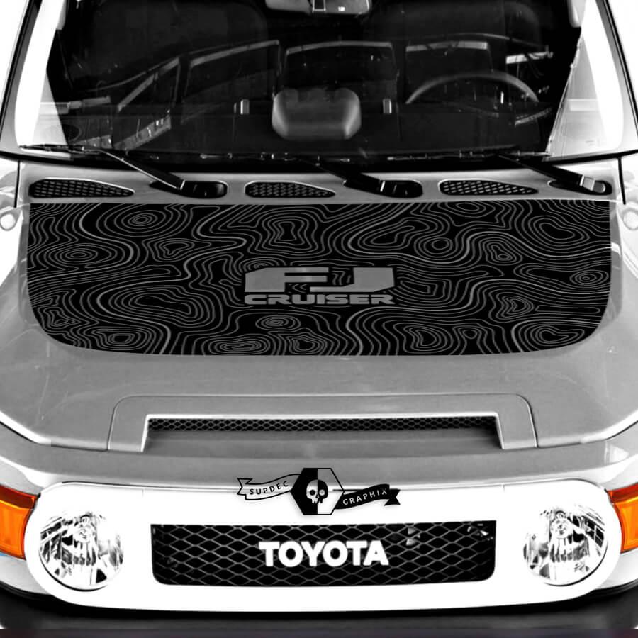 Toyota FJ Cruiser Hood Abziehbild Contour Kartenaufkleber