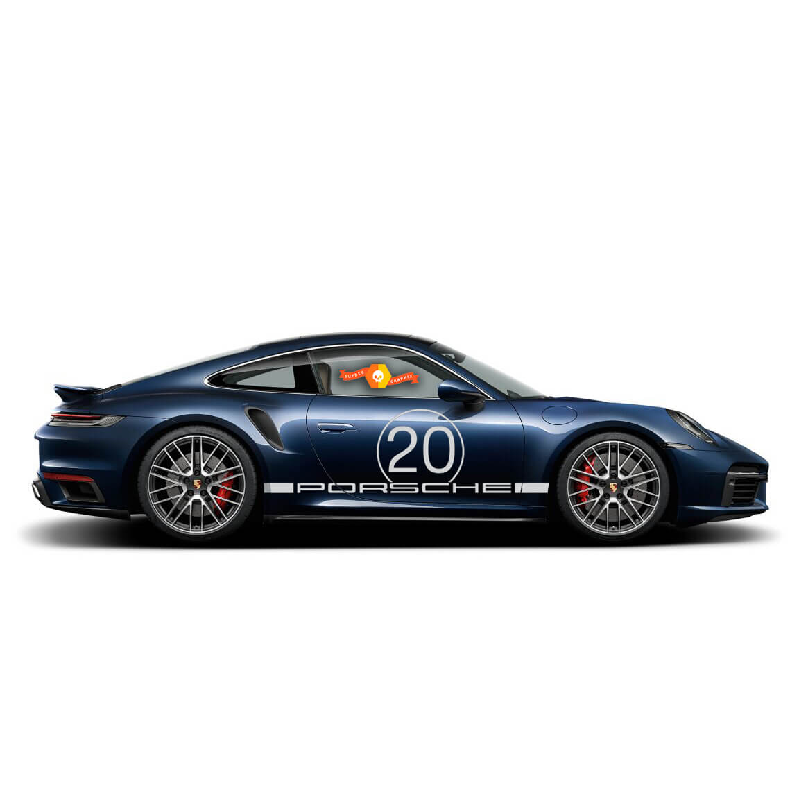 Porsche 911 Turbo S Racing Side Stripes For Carrera Side Stripes