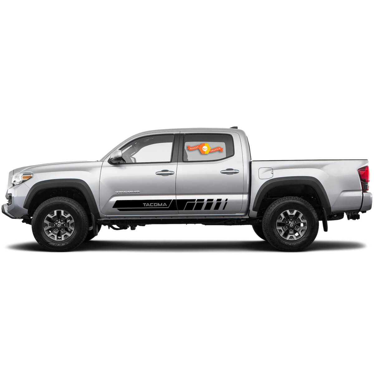 Tacoma Rocker panel 4x4 Off-Road Side Vinyl Stickers Decal Stripes