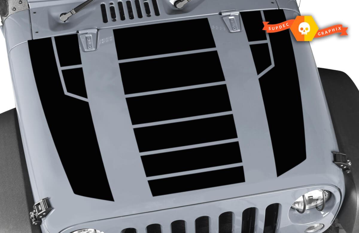Hood Sticker Decal Vinyl Stripe for Jeep Wrangler Lip Skirt Wing trunk Vent 2015