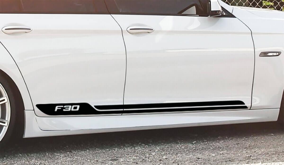 BMW Streifen Vinylkörper Türen Aufkleber Aufkleber Logo BMW F30 Series