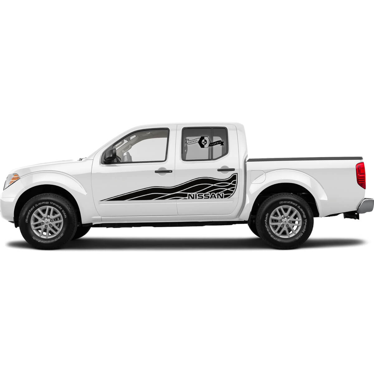 Pair of Wave Style Side Nissan Decals Stickers for Frontier