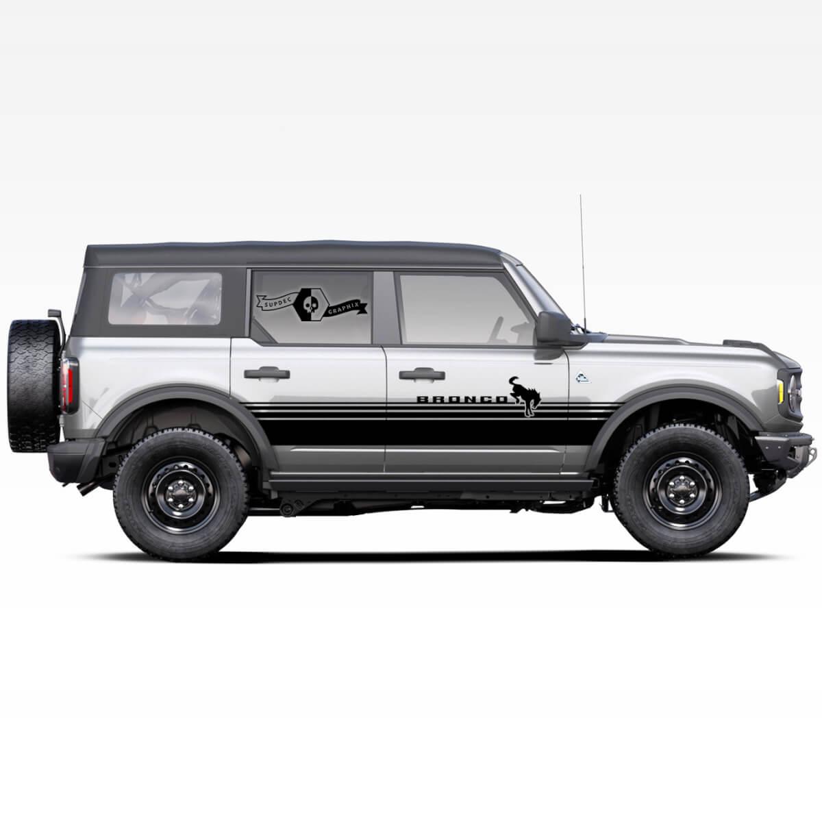 Seitentür Aufkleber Aufkleber für Ford Bronco 2021 - Jetzt Badland