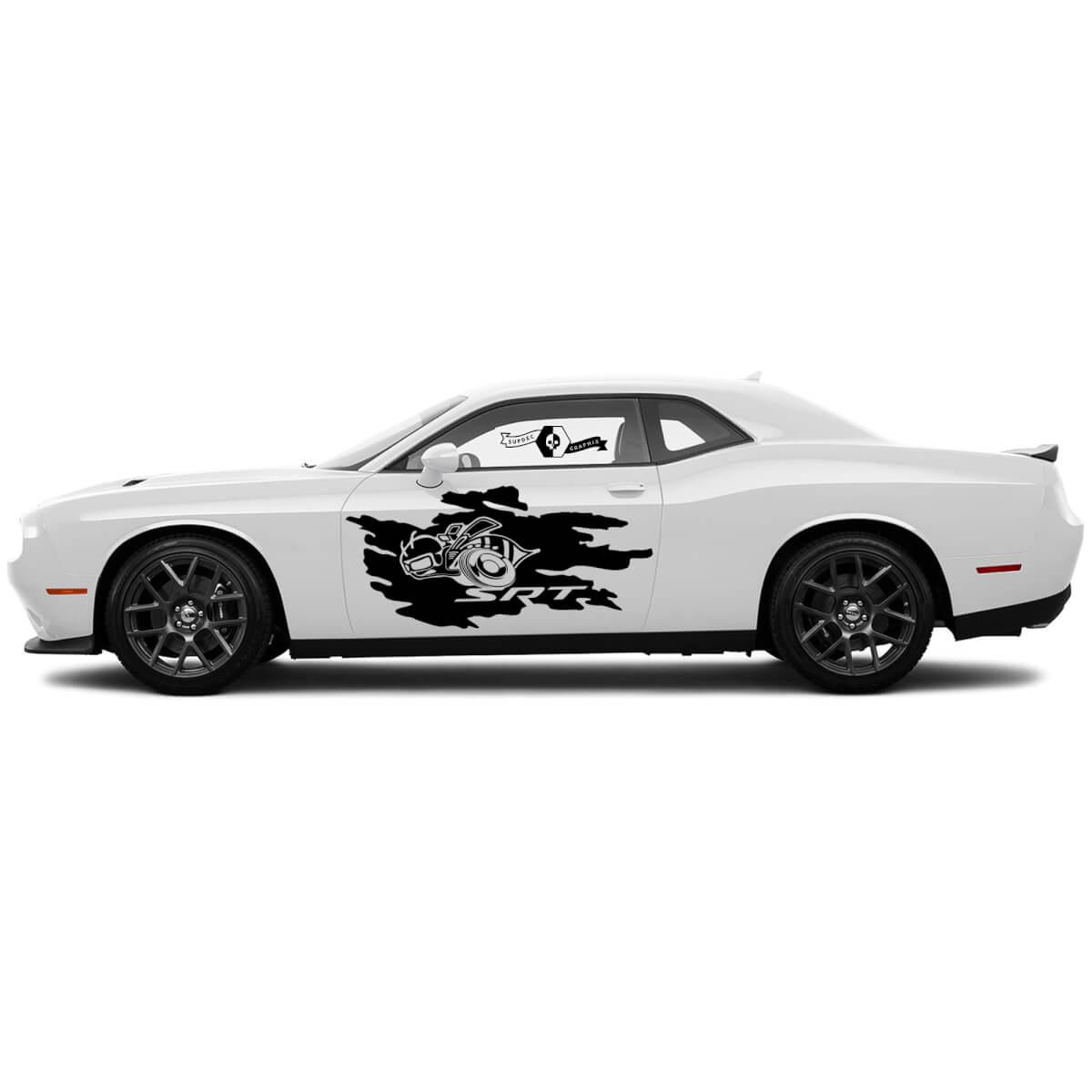 Scat Pack SRT Splash Decals für Dodge Challenger oder Ladegerät Seite Vinylaufkleber Aufkleber