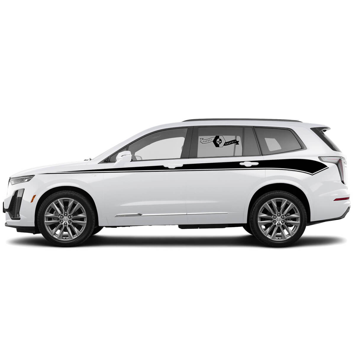 2021 CADILLAC XT6 SEITE STRIPE SUV Vinyl Aufkleber Aufkleber