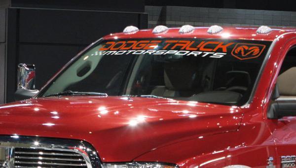 DODGE TRUCK MOTORSPORTS RAM 3500 1500 2500 Windschutzscheibenaufkleber