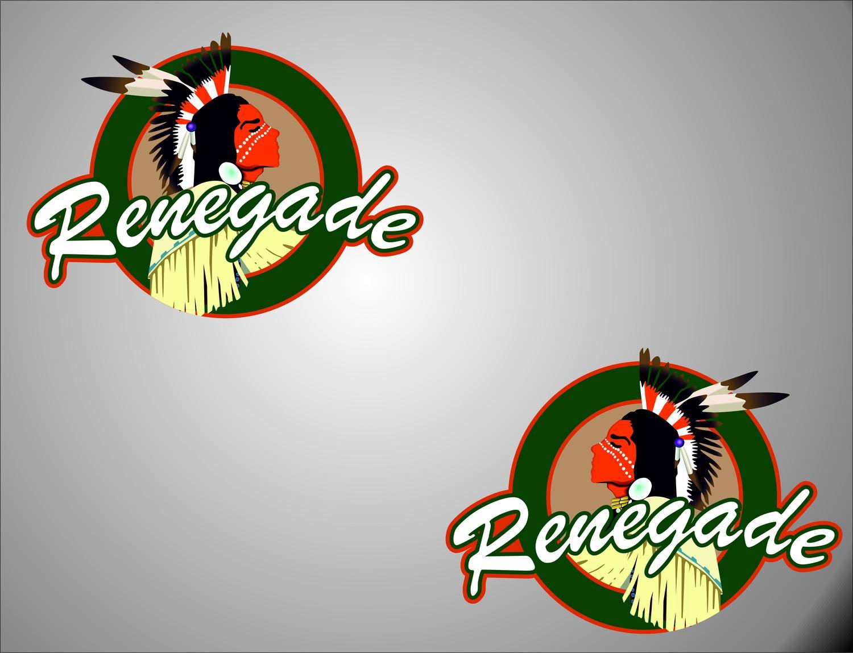 2 RENEGADE linkes / rechtes Logo Jeep Wrangler Vinyl Sticker Decals