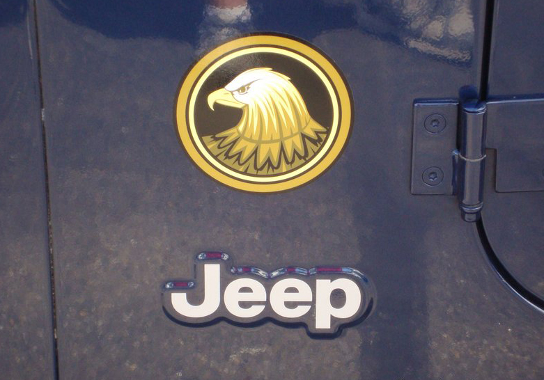 Jeep Wrangler Rubicon Golden-Eagle TJ YK JK Vinyl Sticker Decal