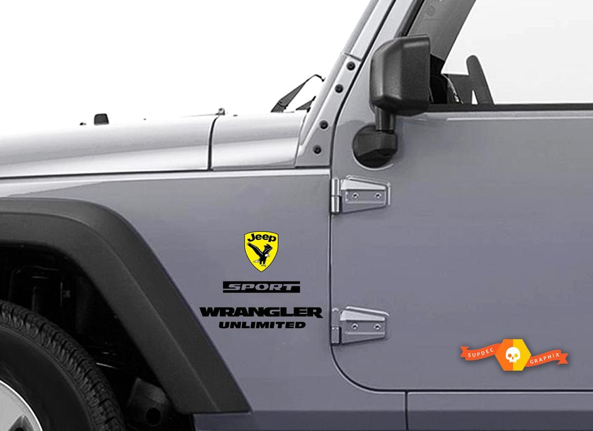 4x JL Jeep Wrangler Decals Stickers OFFROAD RUBICON car style 3