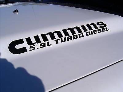 2 5.9 Cummins Turbo Diesel Hood Aufkleber Aufkleber Dodge Ram