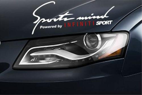 2 Sports Mind Power by INFINITI SPORT G37 G35 FX35 EX3 Decal sti