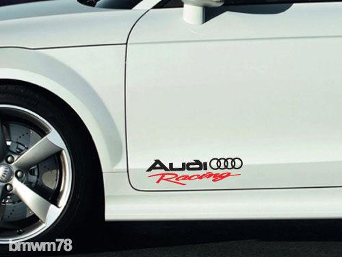 2 AUDI Racing Decal Sticker A4 A5 A6 A7 A8 S4 S5 S8 Q5 Q7 RS TT