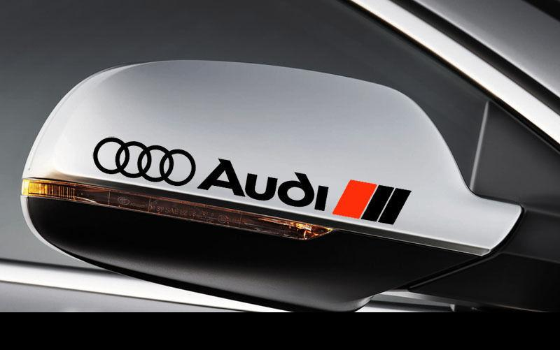 2 AUDI Side View Mirror Decal Sticker RS3 RS4 RS6 A3 A4 A6 A8 TT