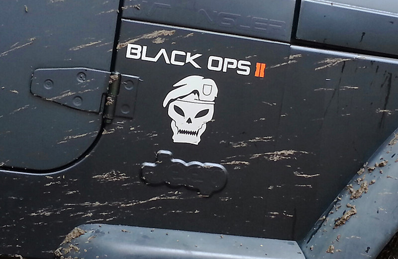 Jeep rubicon Black Ops II wrangler decal sticker