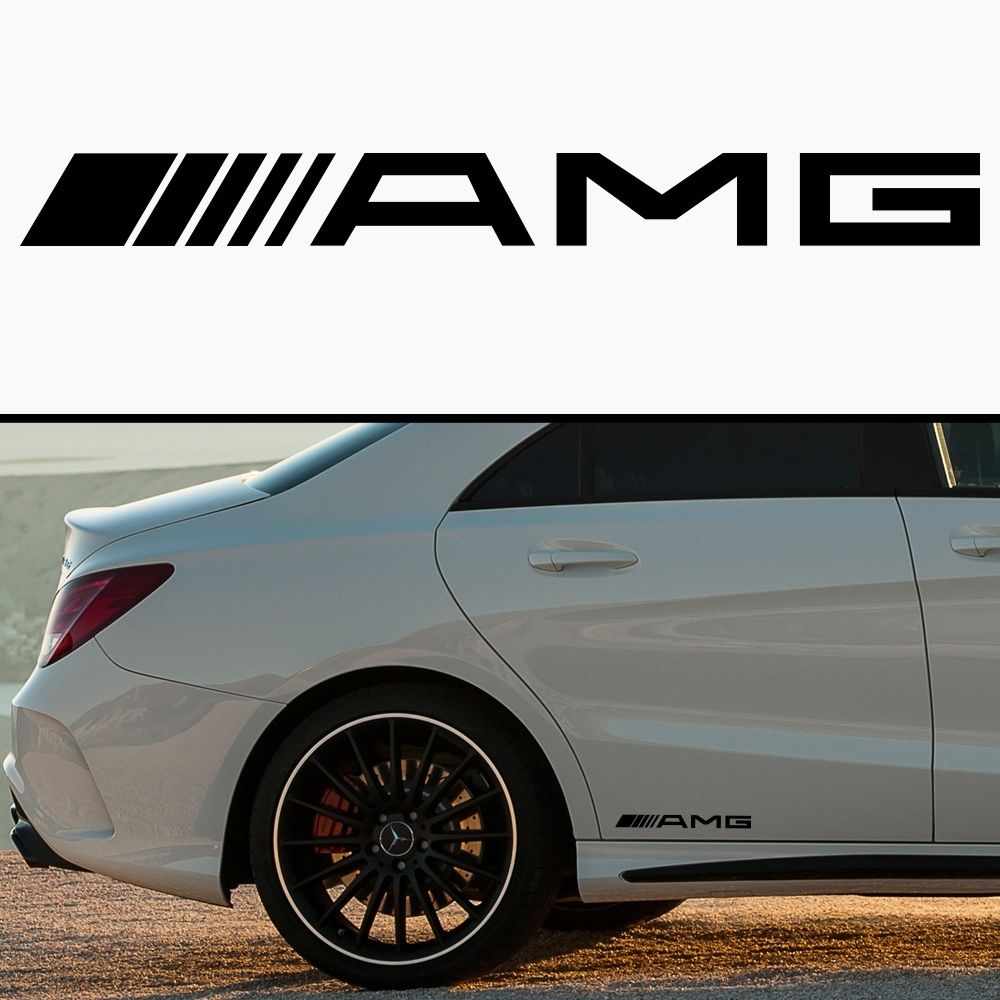 Product amg mercedes car skirt body vinyl sticker decal for Mercedes benz decal