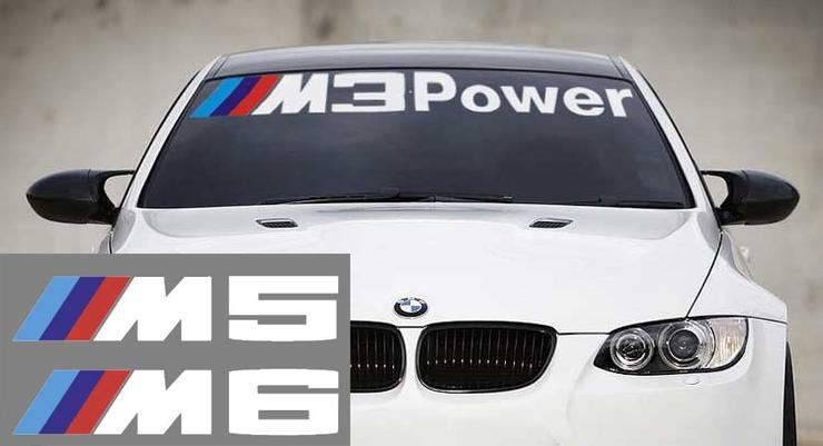 BMW M3 M5 M6 Power Motorsport M3 M5 M6 E36 E39 E46 E63 E90 Aufkleber