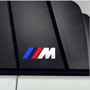2x BMW M Aufkleber M3 M5 M7 M1 Racing Aufkleber Emblem Auto