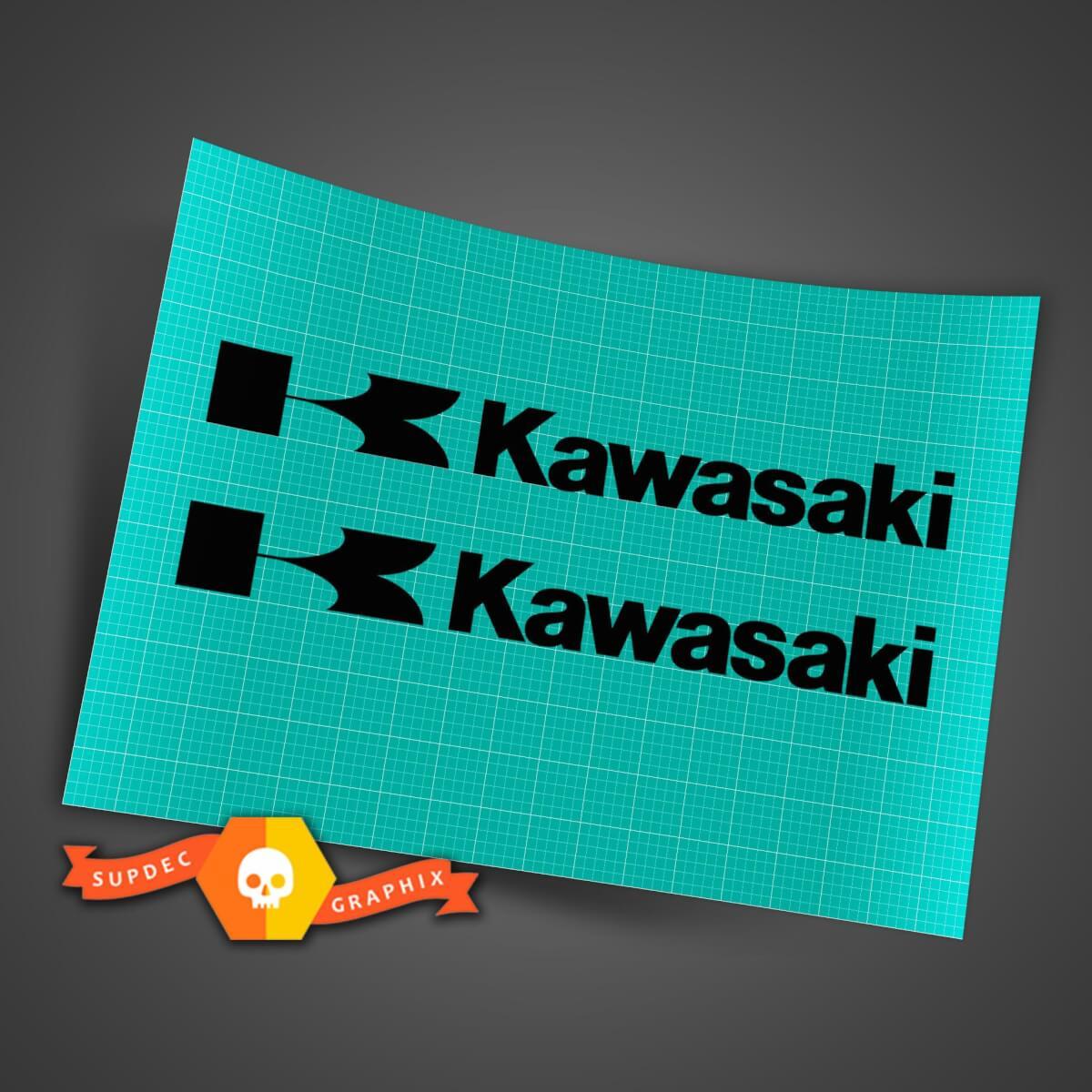 2 KAWASAKI DECAL STICKER