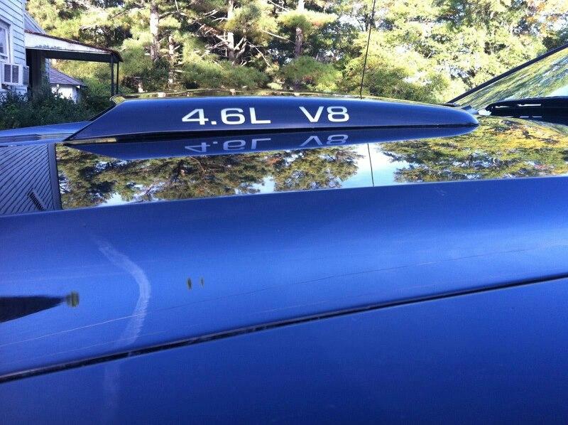 2 Sätze 4.6L V8 AUFKLEBER FORD MUSTANG GT COBRA SVT AUFKLEBER Aufkleber