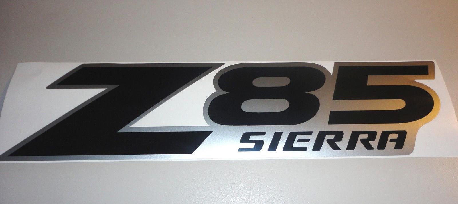2 GMC Z85 SIERRA Werksaufkleber AUFKLEBER SCHWARZ SILBER LR