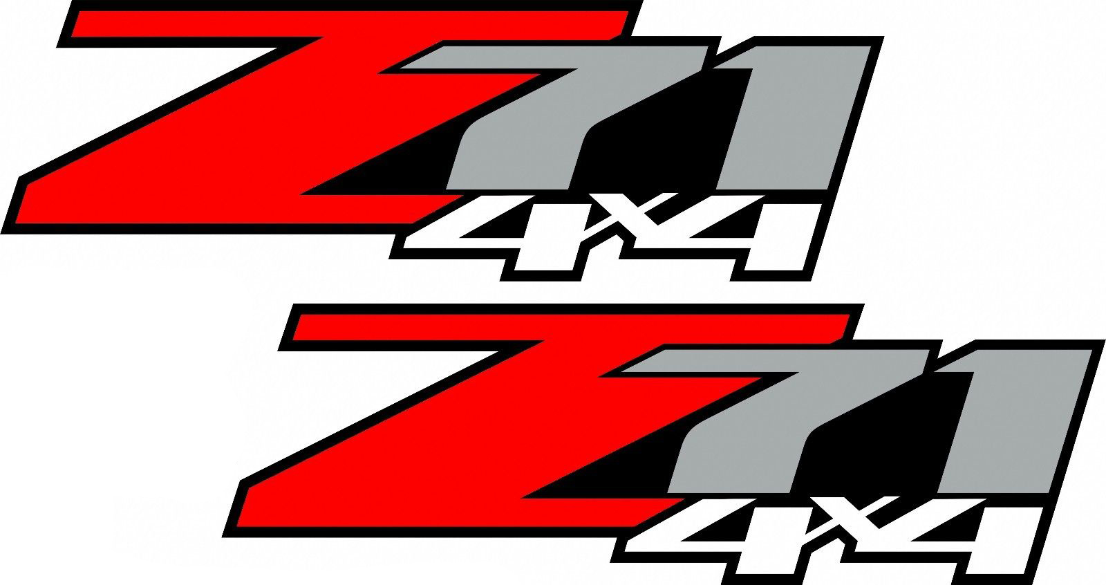 2 chevy z71 off road 4x4 truck decal sticker x2