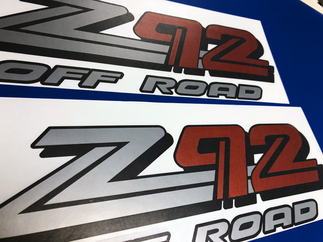 2 GMC Z92 OFF ROAD SEIRRA YUKON CANYON Aufkleber