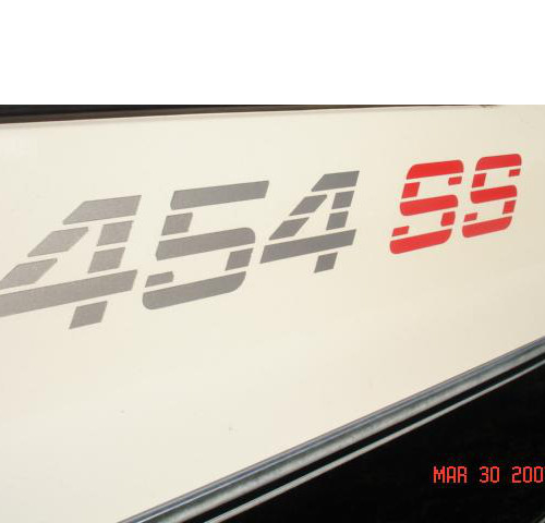 2 454 SS CHEVY TRUCK BEDSIDE DECALS 90-91 92-93 CHEVROLET TRUCK # 2