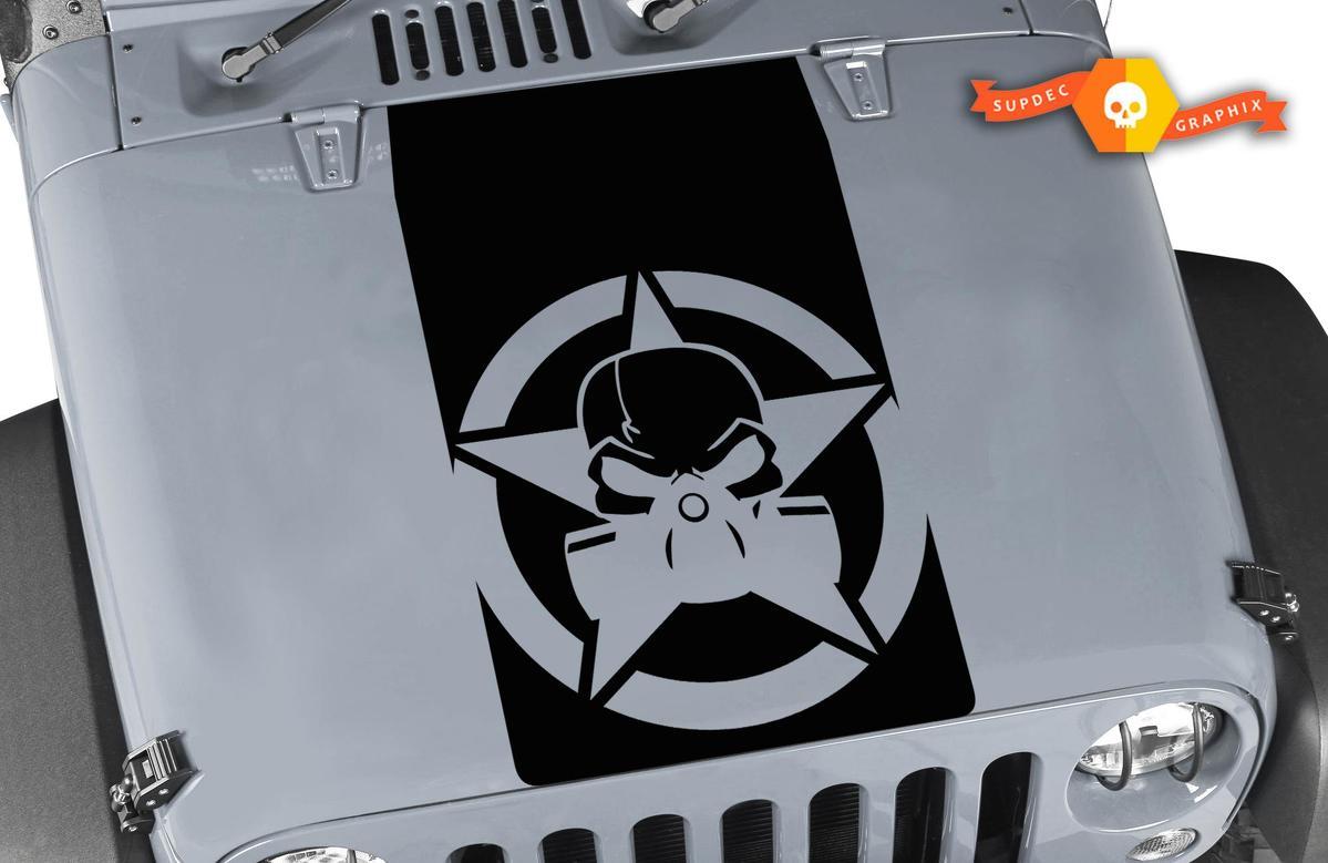 Product Jeep Wrangler Blackout Gas Mask Skull Vinyl Hood