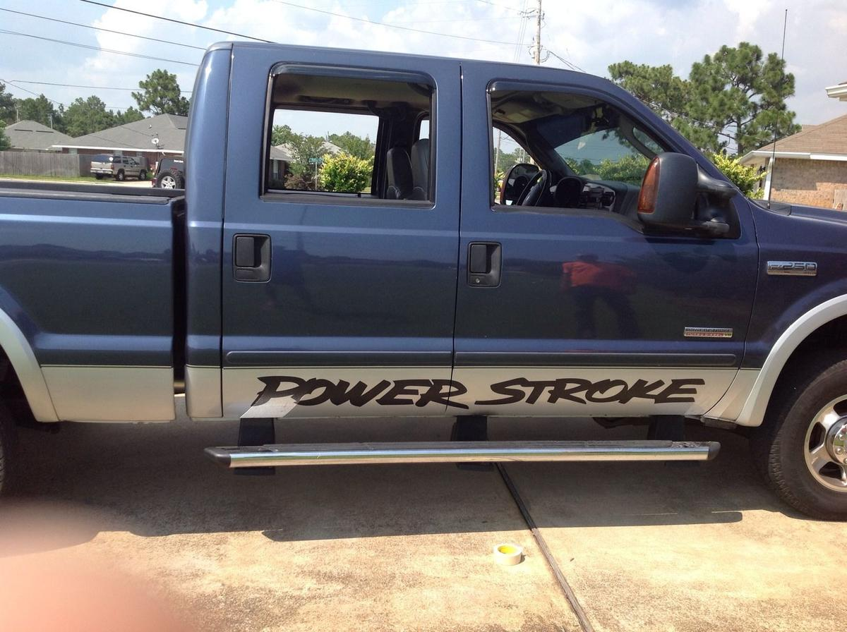 Power Stroke pair Door banner vinyl sticker decal Fits Ford Superduty Truck & Product: Power Stroke pair Door banner vinyl sticker decal Fits ...