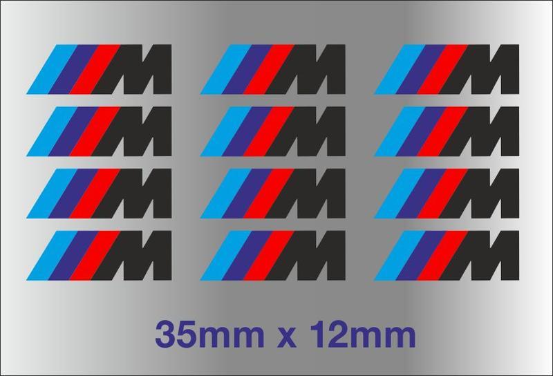 BMW M Bremssattel Größe M3 M5 M6 325 328 540 Aufkleber