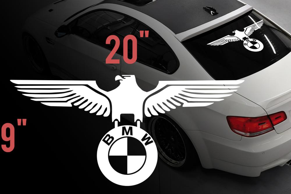 Product Bmw Eagle German Car Rear Window Vinyl Stickers