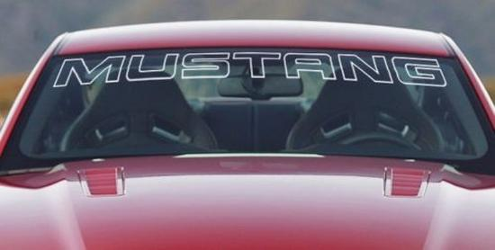 Ford Mustang weiße Windschutzscheibe Banner Aufkleber Brief Umriss