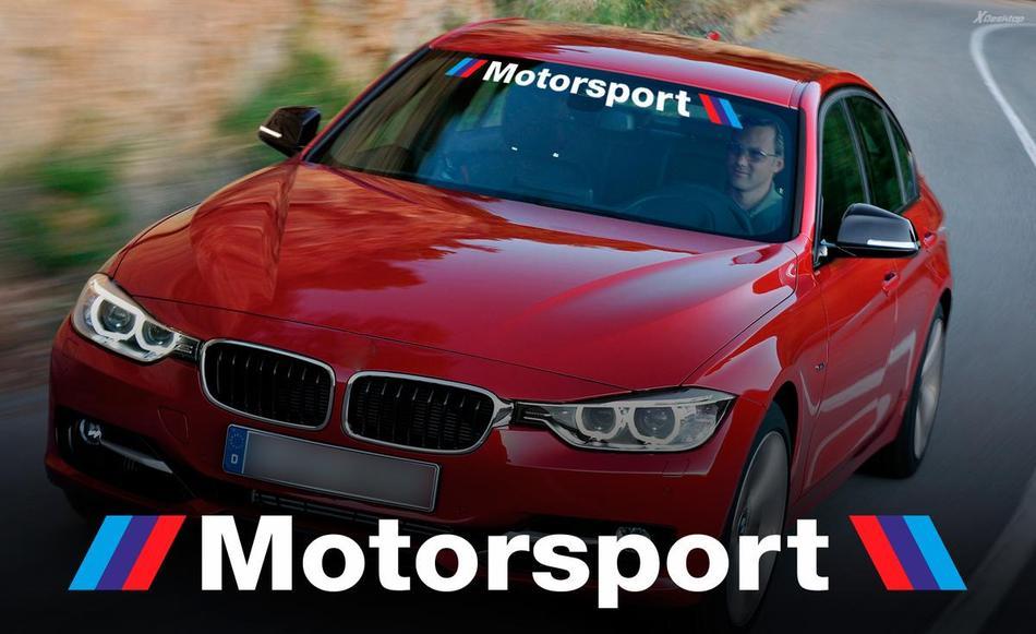 BMW MOTORSPORT mit Streifen WINDSHIELD BANNER Fensteraufkleber für M3 4 5 6 e46 e36