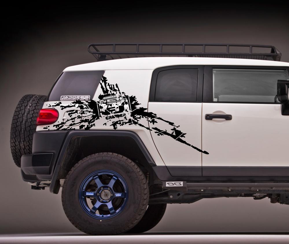 Toyota FJ cruiser side Mud Splash vinyl decals stickers #2