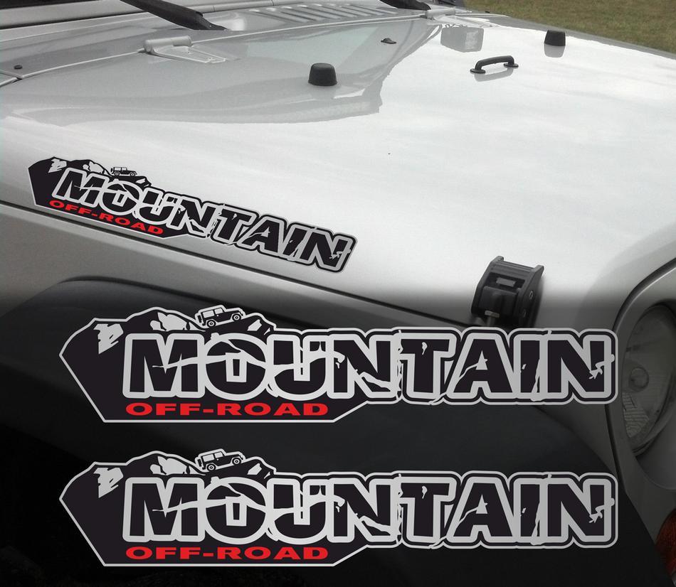 Pair of Wrangler Decal set Jeep stickers hood fender graphic  JK CJ YJ rubicon