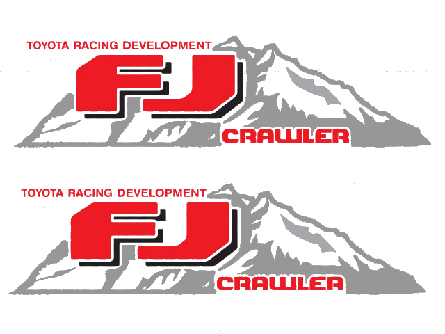 2 Toyota FJ CRAWLER Mountain Deer Hunter Decal TRD racing development side vinyl decal sticker