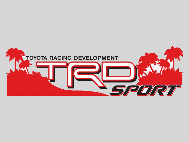 2 toyota trd off sport beach decal trd racing development side vinyl decal sticker