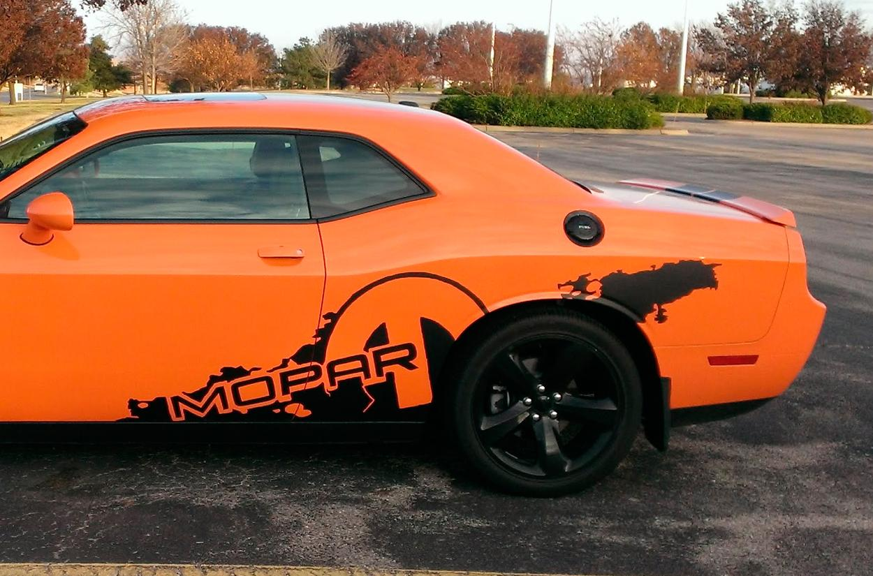 DODGE challenger R/T MOPAR splash decal vinyl stickers