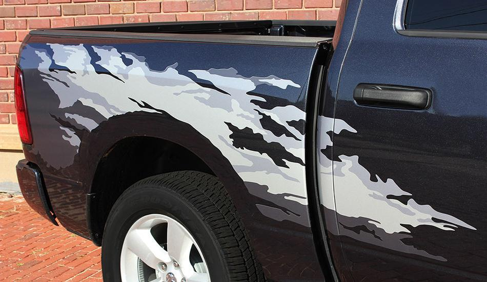 Product Dodge Ram RAGE Bed Graphics Solid Or Multi - Truck bed decals customford fvinyl graphics for bed fender