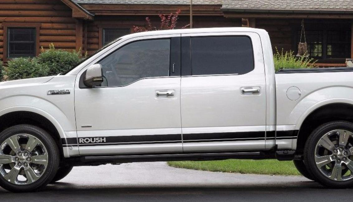 Ford F-150 2016 Roush graphics side stripe decal sticker