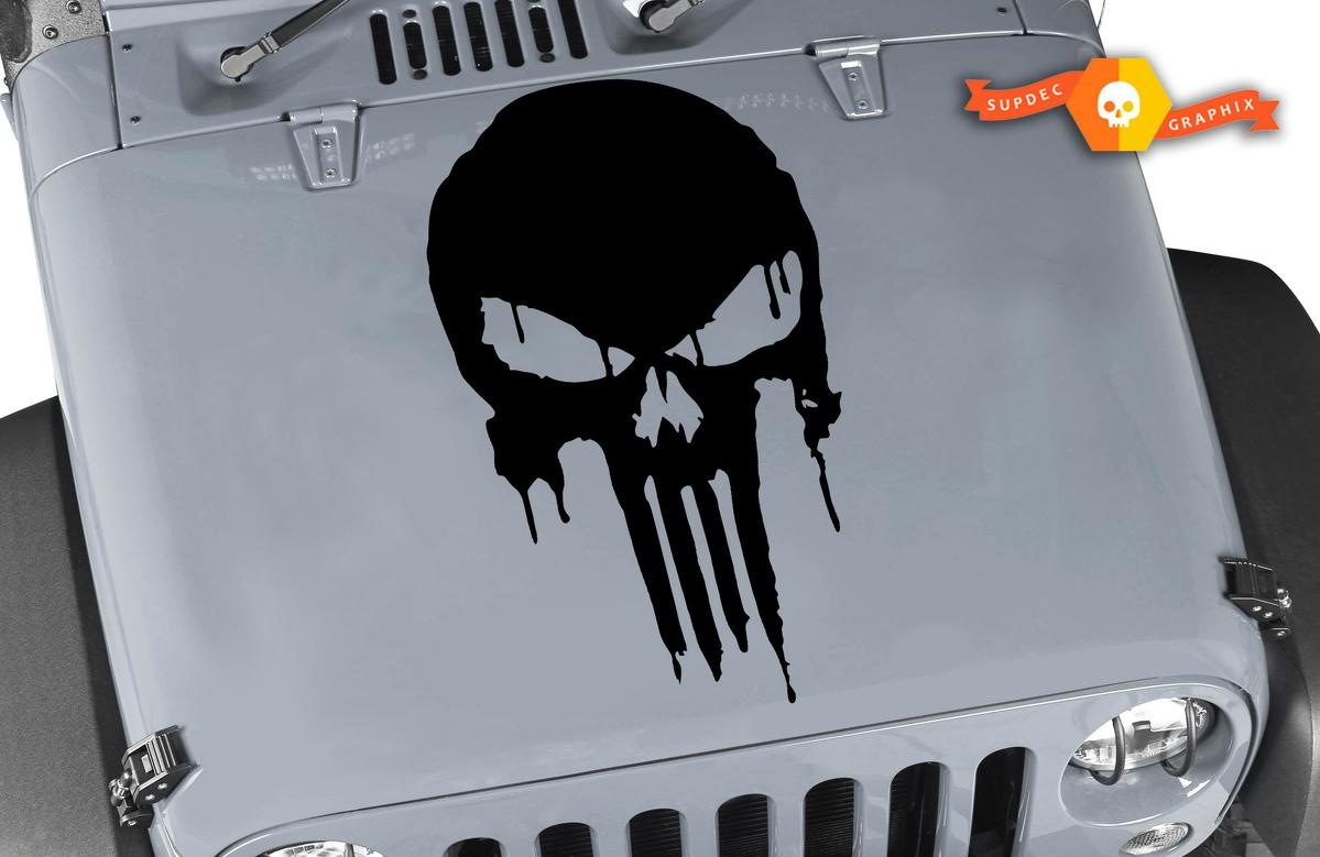 Jeep Decal | WRANGLER Hood Fender Window Door Decal rubicon sahara Punisher